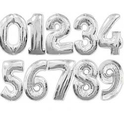 Palloncini Foil numeri - Argento