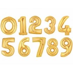 Palloncini Foil numeri - Oro