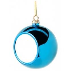 Addobbo natalizio pallina vetro - Blu
