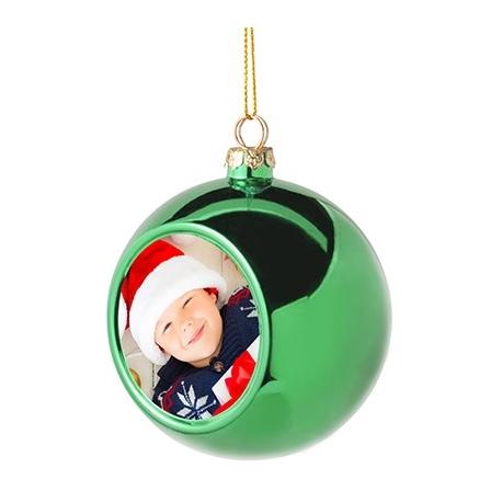 Addobbo natalizio pallina vetro - Verde