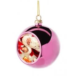 Addobbo natalizio pallina vetro - Rosa