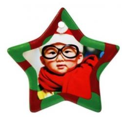 Addobbo natalizio cartone - Stella