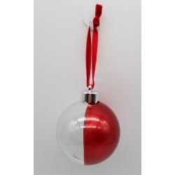 Addobbo natalizio Pallina trasparente-rossa