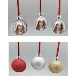 Addobbo natalizio Pallina trasparente-glitter