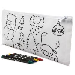 Astuccio natalizio da colorare con pastelli inclusi