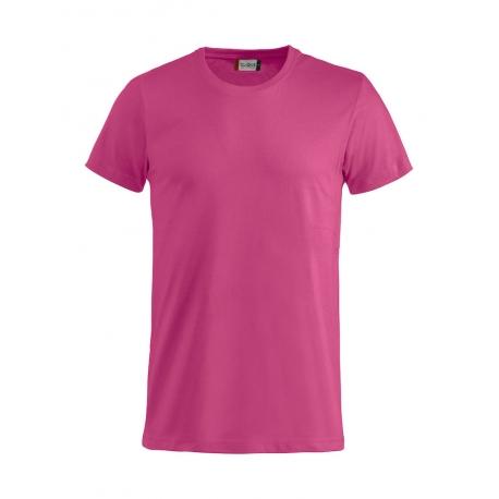 T-Shirt Adulto Cotone Rosa Lampone