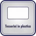 Tesserini in plastica